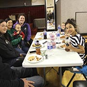 Enbridge hosted a free community barbecue lunch in Maryfield followed by football on the big screen of the Maryfield Theatre on Saturday, Oct. 13, 2018.