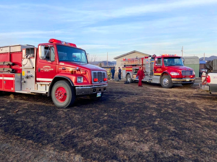 The Carberry Fire Department and two other departments responded to a wildfire that led to the evacuation of 20 households Thursday