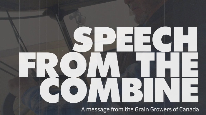 The Grain Growers of Canada had presented a Speech from the Combine in advance of the Speech from the Throne to highlight agricultural issues.
