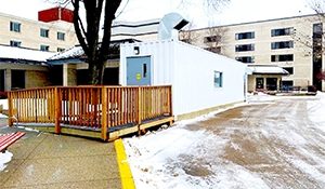 Care homes begin using co-visitation shelters